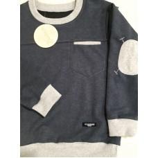 Джемпер комбинированный с карманом
