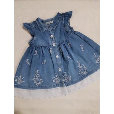 Платье на пуговцах по низу прошва