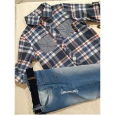 Комлект рубашка+ джинсы