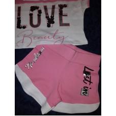Комплект  шорты и футболка Love