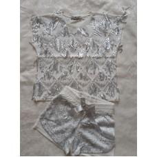 Комплект гламур шорты и футболка